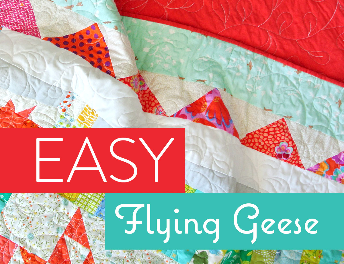 Super Simple Flying Geese Quilt Tutorial - Suzy Quilts
