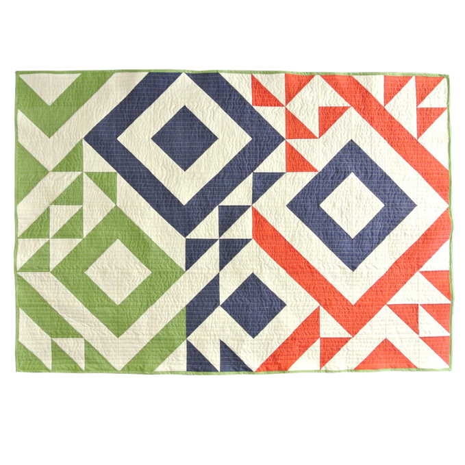 Triangle Jitters Baby Quilt