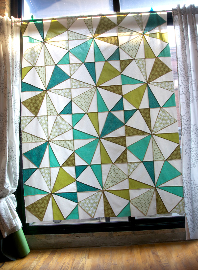 How to make a stained glass quilt and other quilty for Window pane quilt design