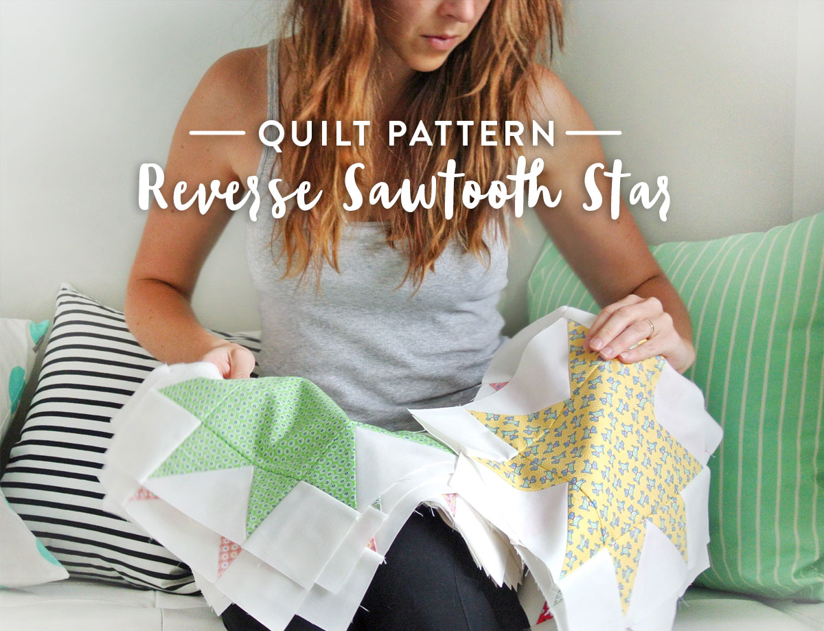 Sawtooth-Star-Quilt-Pattern