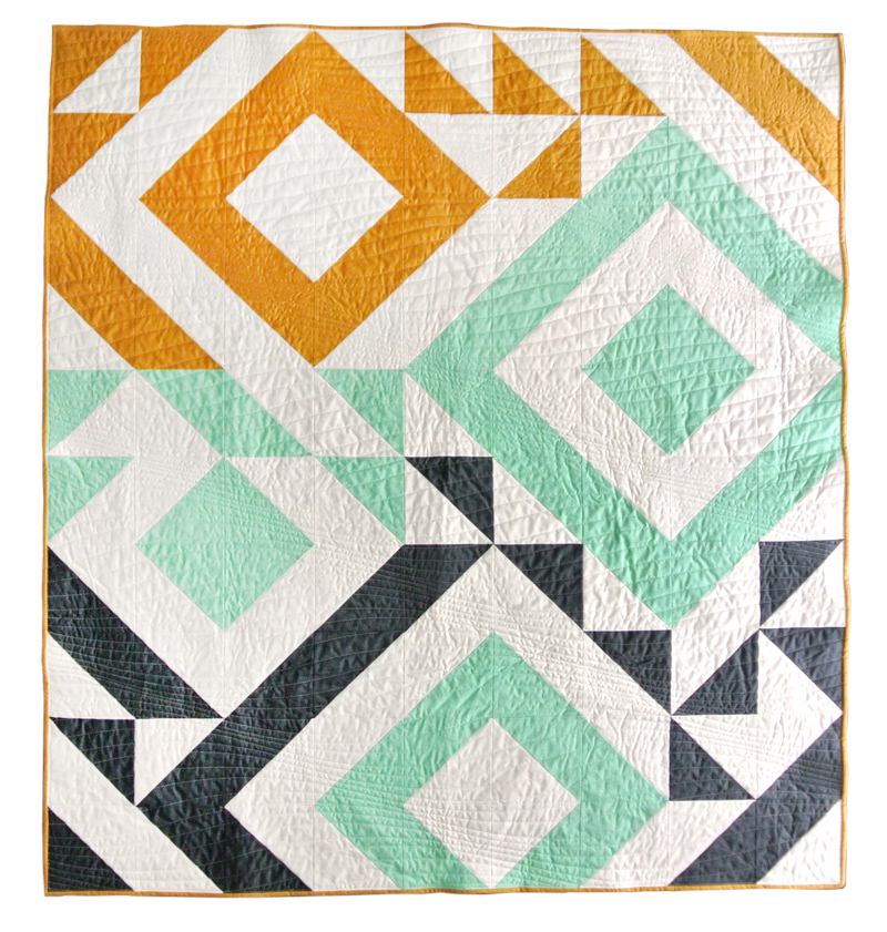 Quilt Designs With Triangles : Triangle Jitters Quilt Pattern (Download) - Suzy Quilts