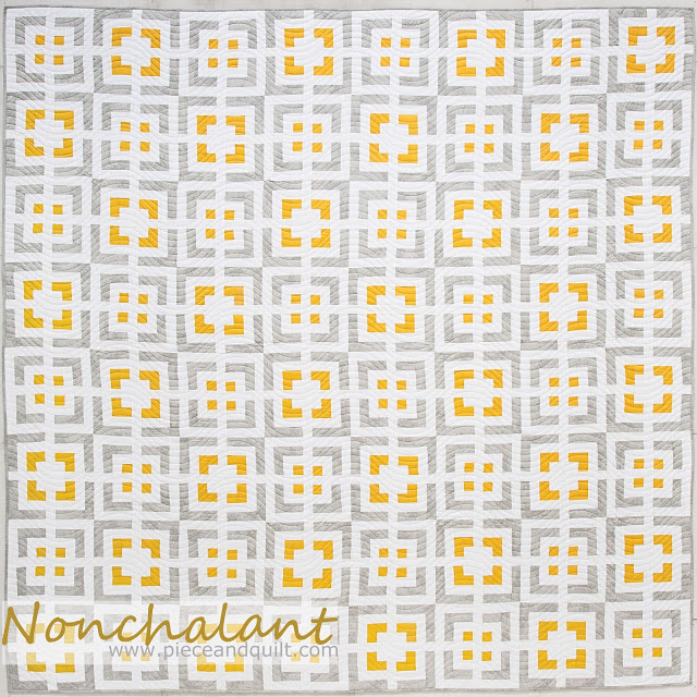 nonchalant quilt by natalia bonner and kathleen whiting from cabin fever 20 modern log cabin quilts