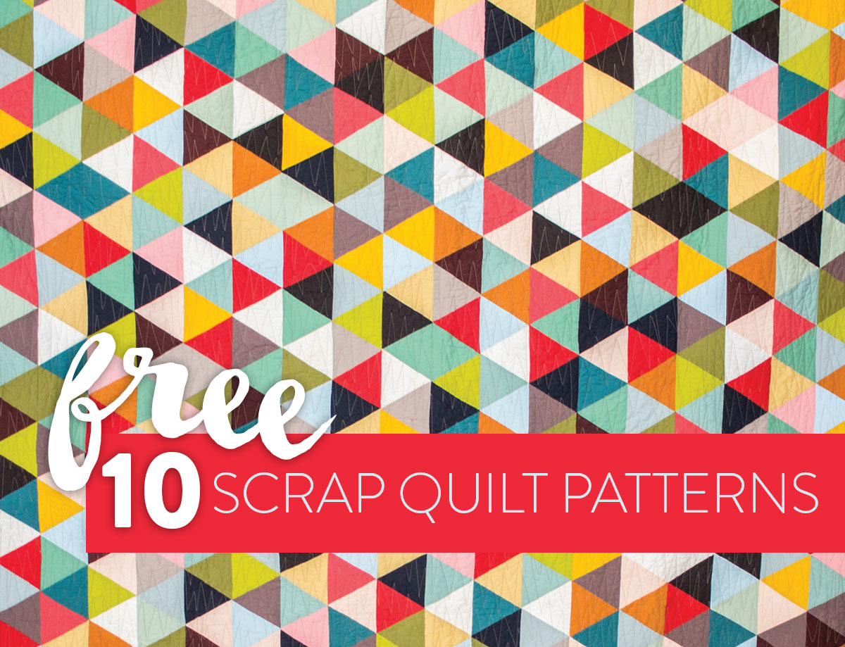Sassy image with free printable scrap quilt patterns