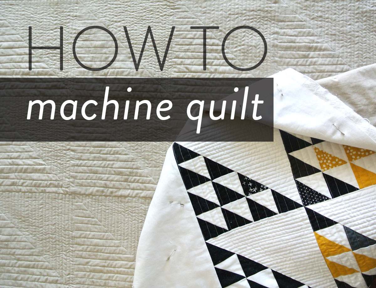 how to machine quilt a quilt