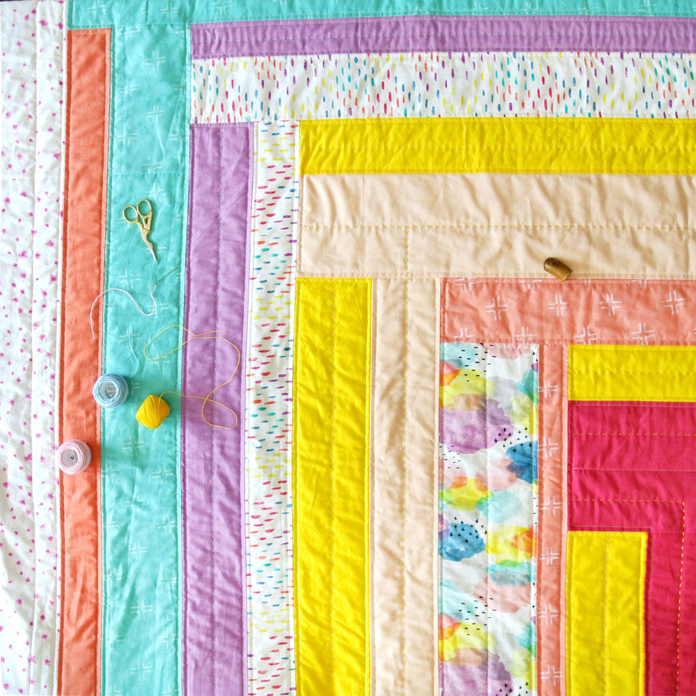 Modern Hand Quilting Patterns : Weekend Candy Quilt Pattern (Download) - Suzy Quilts