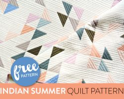 Indian Summer FREE Baby Quilt Pattern