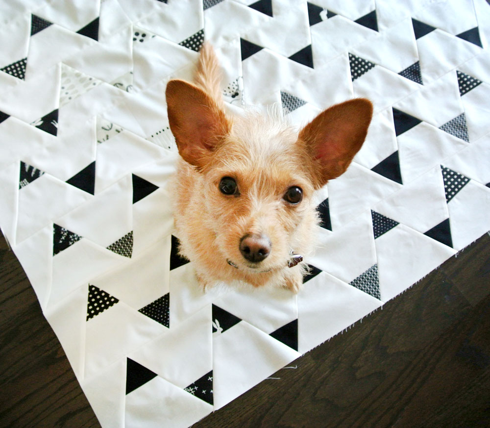 Minimal-Triangles-Scrappy-Quilt