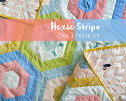 Hexie Stripe Quilt Pattern