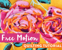 Free Motion Quilting Tutorial for Beginners
