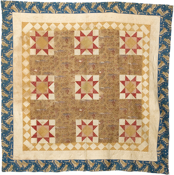 Antique Sawtooth Star Quilt