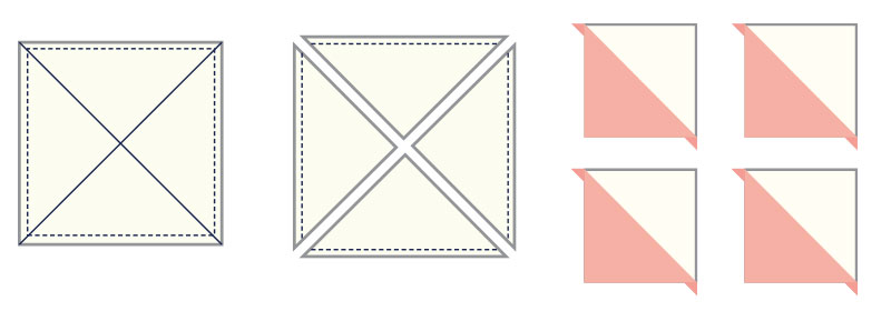 Half Square Triangle Pattern