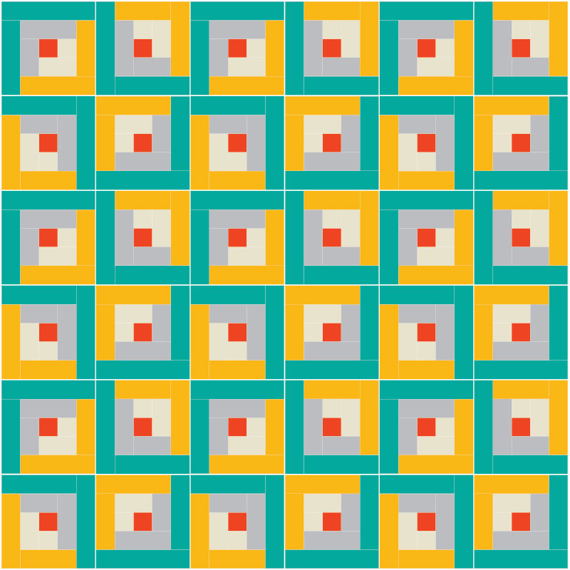 Make Your Own Log Cabin Quilt Pattern - Suzy Quilts : log cabin quilt block layouts - Adamdwight.com