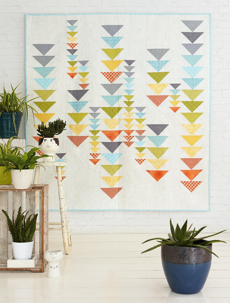 A brief history on the Flying Geese quilt block. Includes modern flying geese block inspiration and a flying geese conversion chart to scale blocks up or down. A Flying Geese quilt tutorial how to make 1 Flying Geese block or 4 at a time!