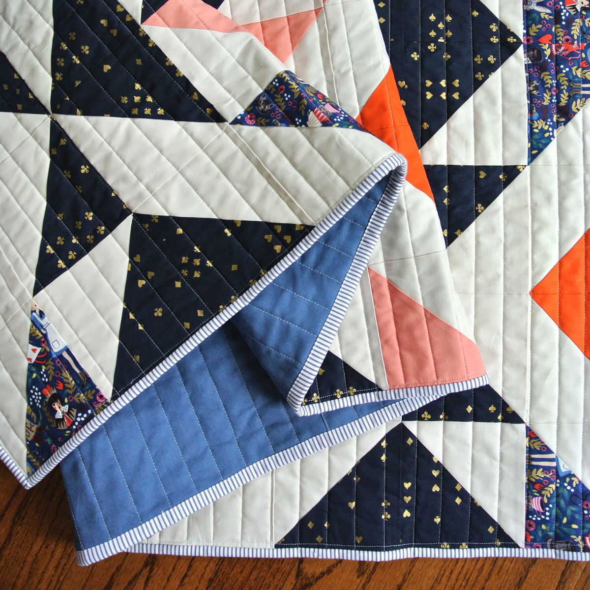 Nordic Triangles Quilt Pattern (Download) - Suzy Quilts : quilts - Adamdwight.com