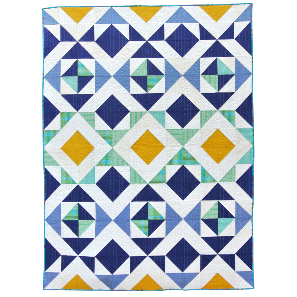 Quilt Designs With Triangles : Nordic Triangles Quilt Pattern (Download) - Suzy Quilts