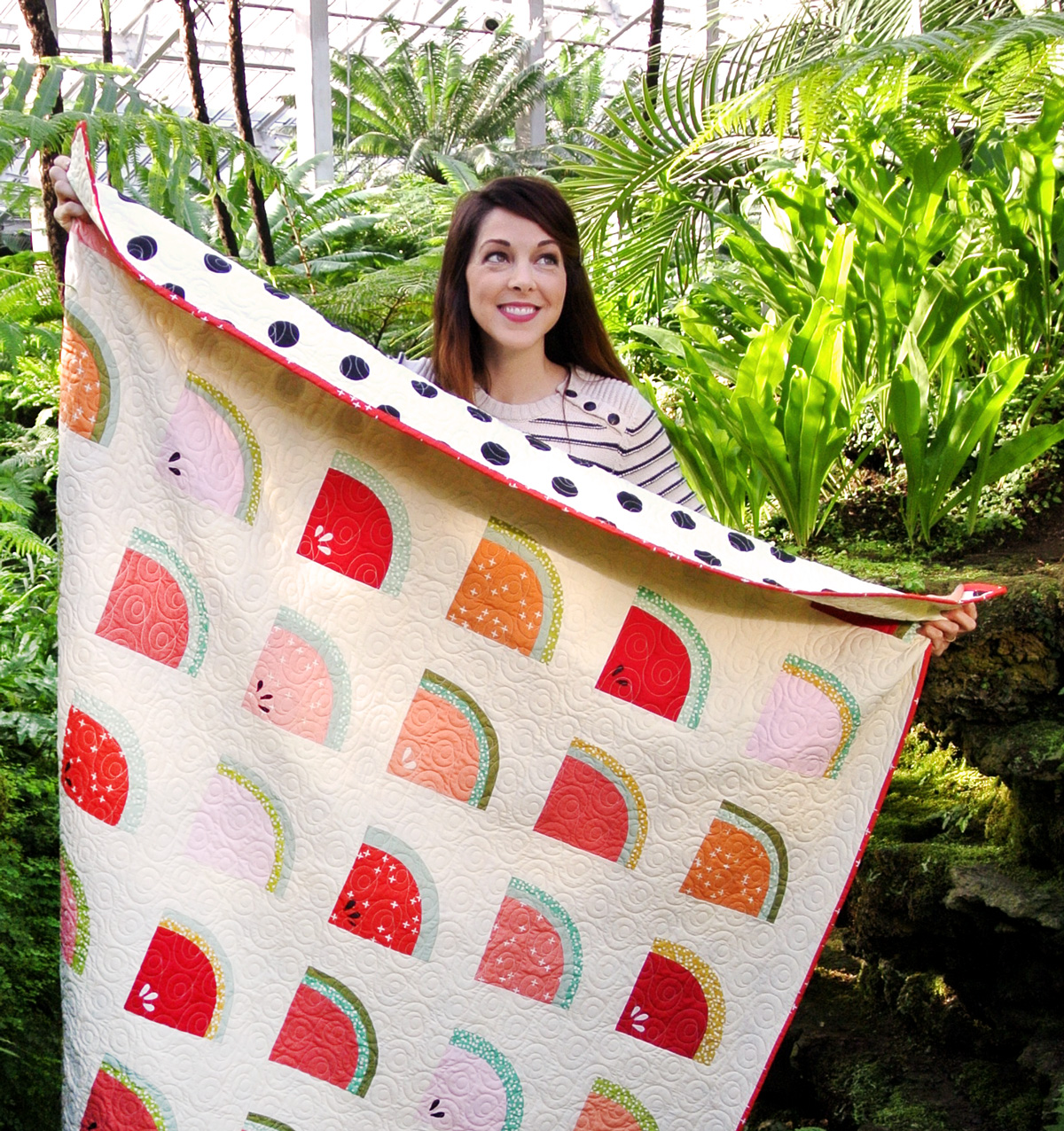 FREE Watermelon Throw Quilt Size