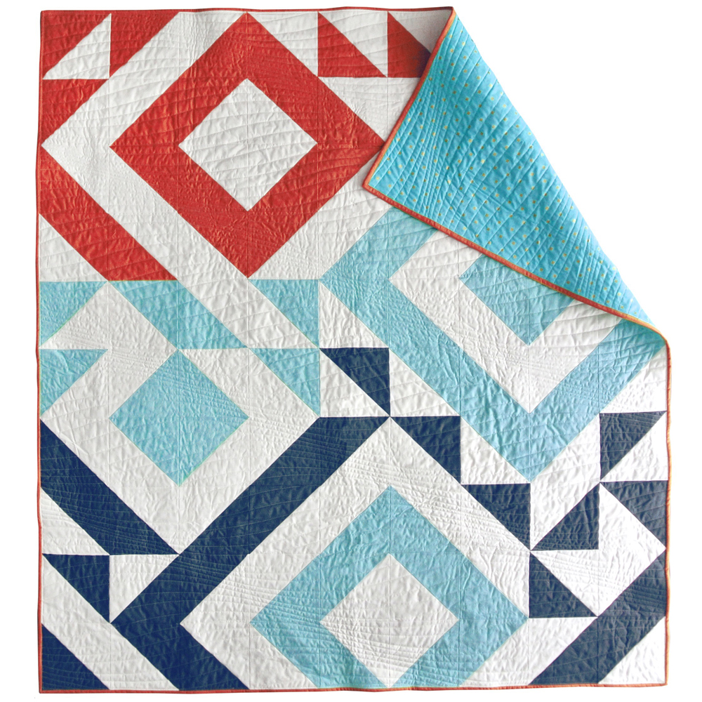 Triangle Jitters Quilt Pattern (Download) - Suzy Quilts : fourth of july quilt pattern - Adamdwight.com