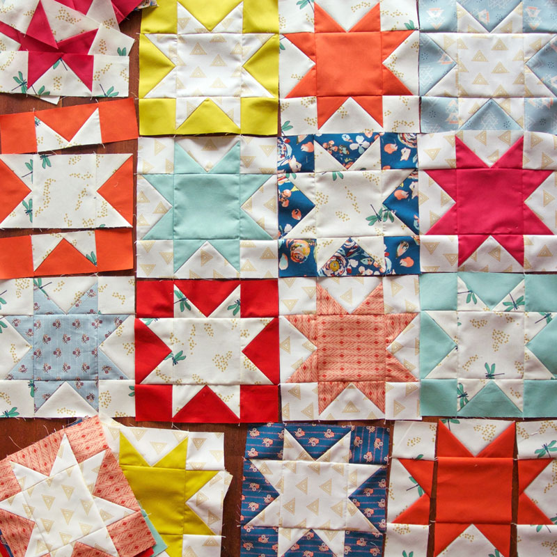 Sawtooth-Star-Quilt