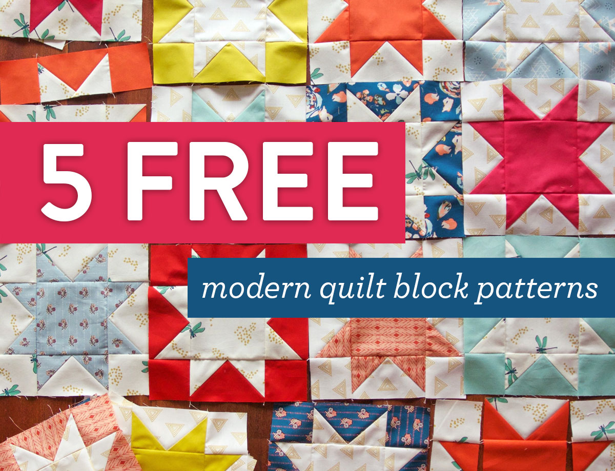 5 Free Modern Quilt Block Patterns - Suzy Quilts : modern quilt design - Adamdwight.com