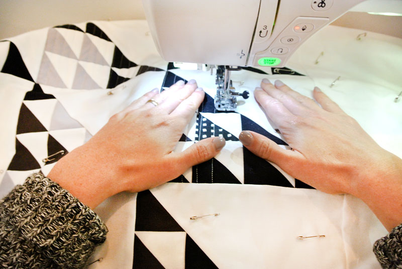 how to quilt by machine