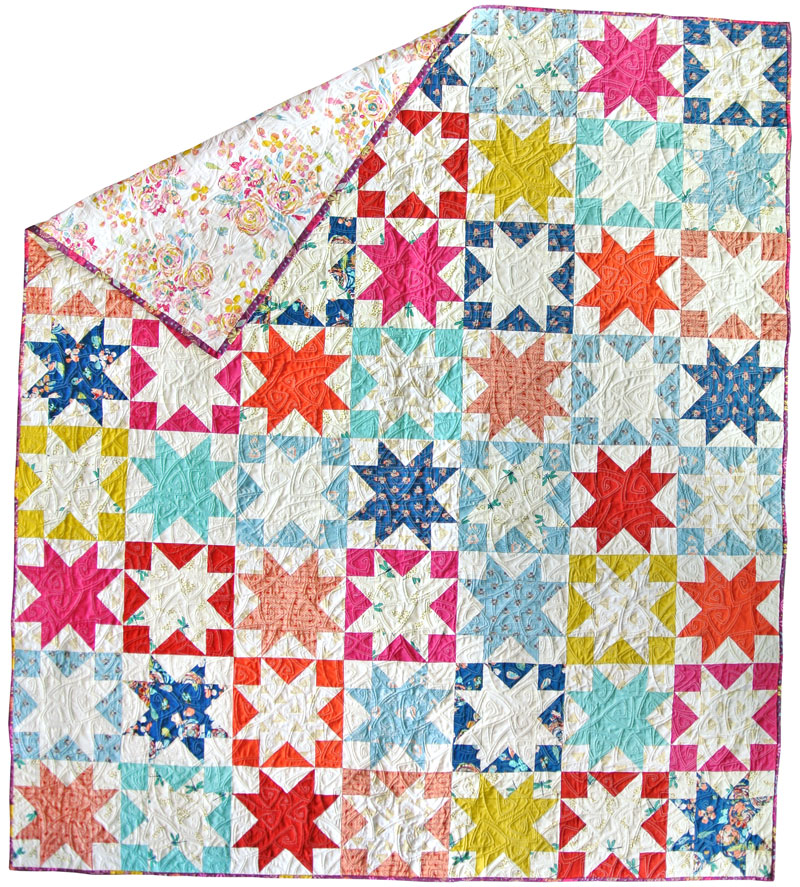 Reverse Sawtooth Star Quilt Pattern - Suzy Quilts : star block quilt pattern - Adamdwight.com