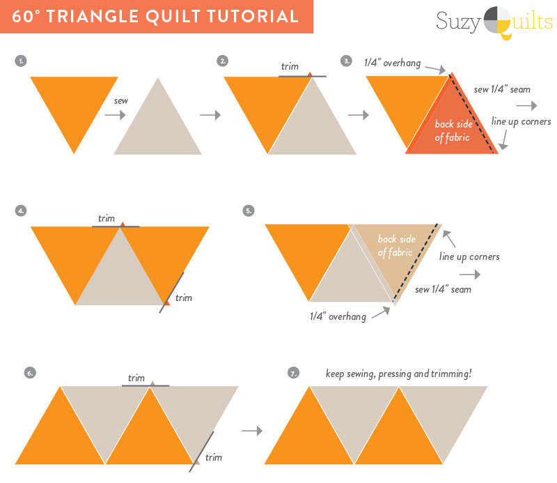 60 Degree Triangle Quilt Tutorial