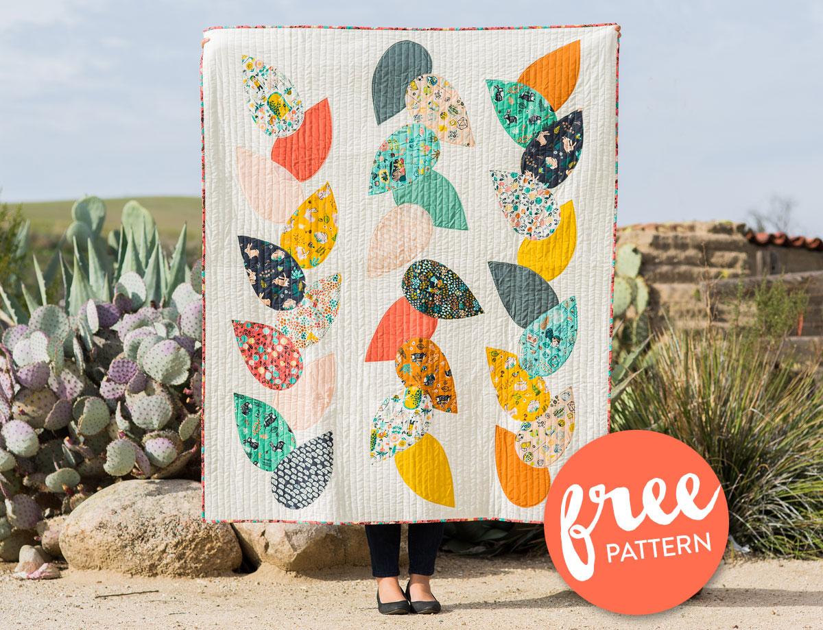 Free-Hidden-Garden-Quilt-Pattern
