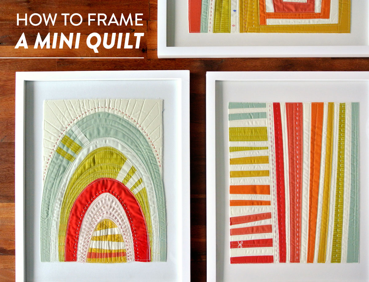 How to Frame a Mini Quilt - Suzy Quilts