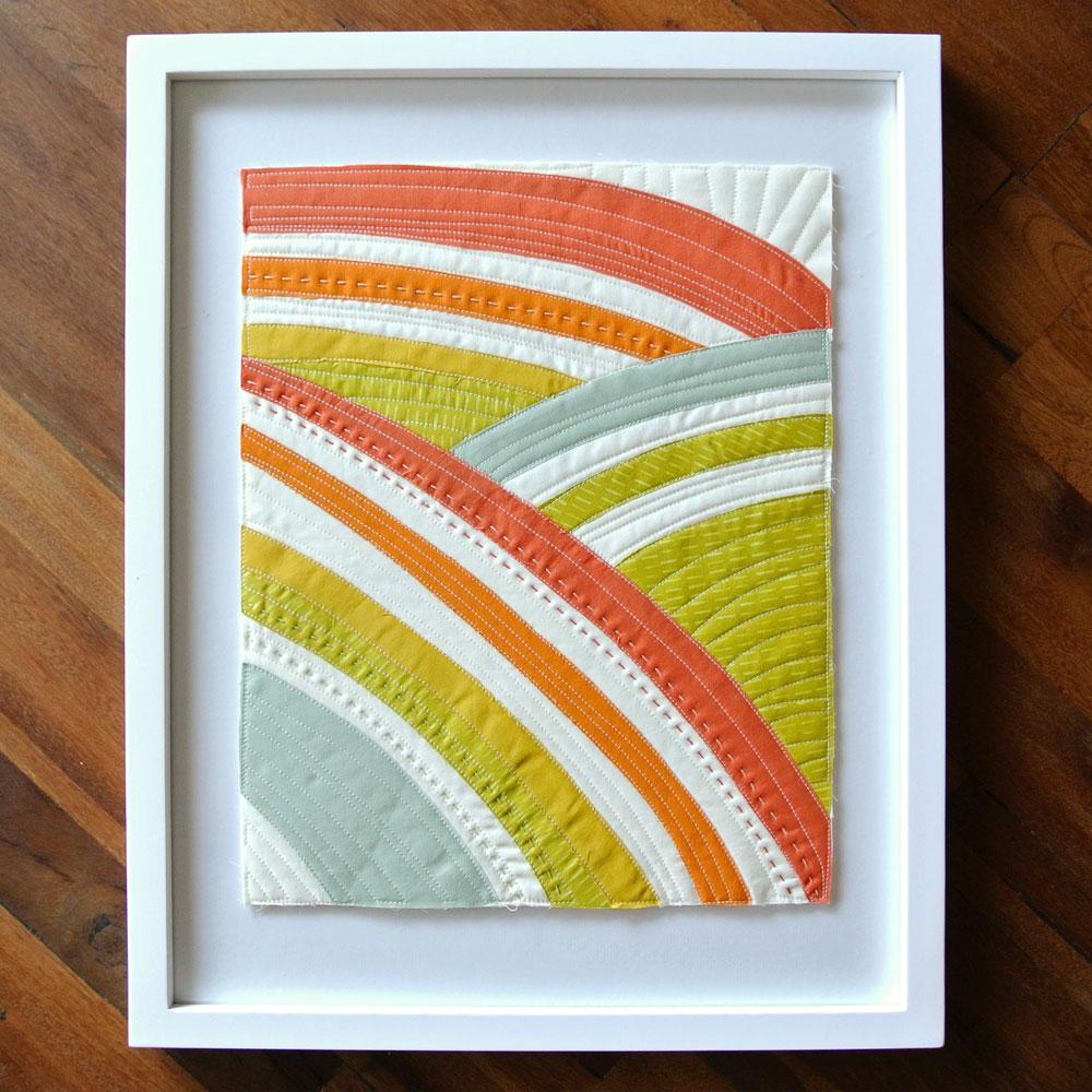 Sew Mojo #4 Mini Quilt Pattern (Download) - Suzy Quilts : framed quilt art - Adamdwight.com