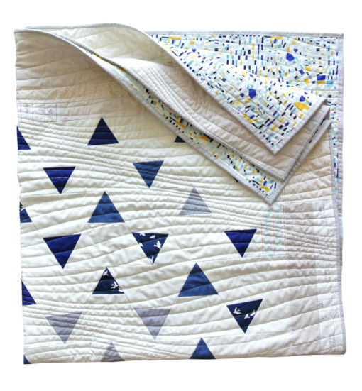 Minimal-Triangles-Navy-Quilt-Pattern