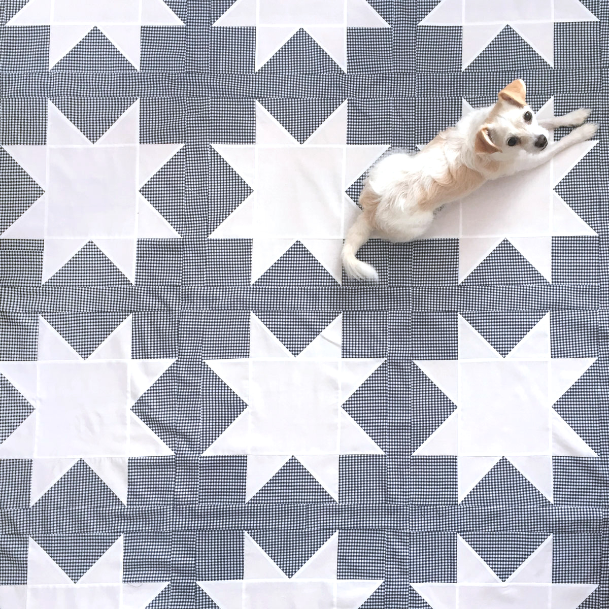 "Free Sawtooth Star Quilt Pattern. A beginner-friendly sawtooth quilt block tutorial. Included is a sawtooth star conversion chart to make 4"", 8"", 12"", 16"" blocks. Suzy Quilts 