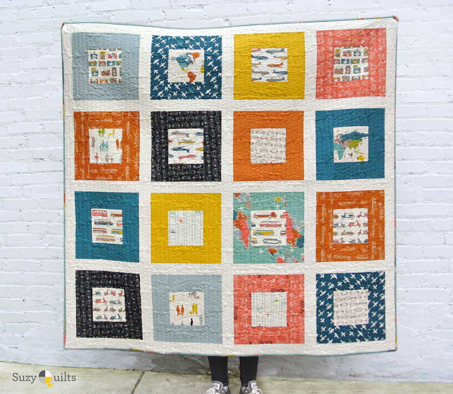 FREE quilt pattern! The BEST beginner quilt pattern for a newbie quilter.  suzyquilts.com