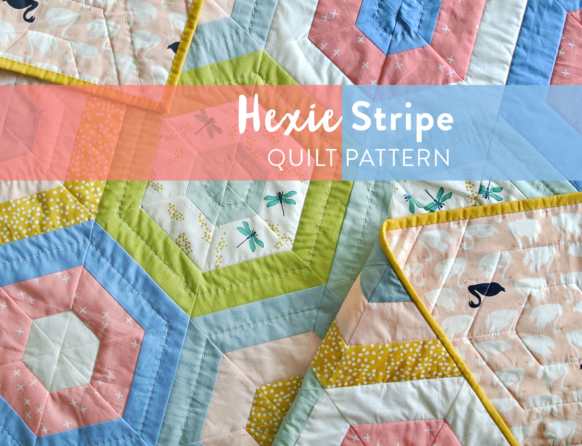 Hexie-Stripe-Quilt-Pattern