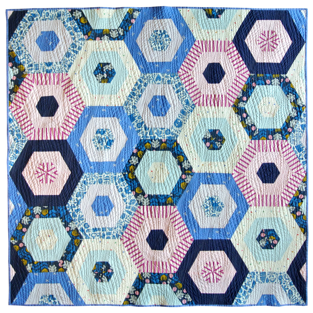 Hexie Stripe Quilt Pattern Download Suzy Quilts