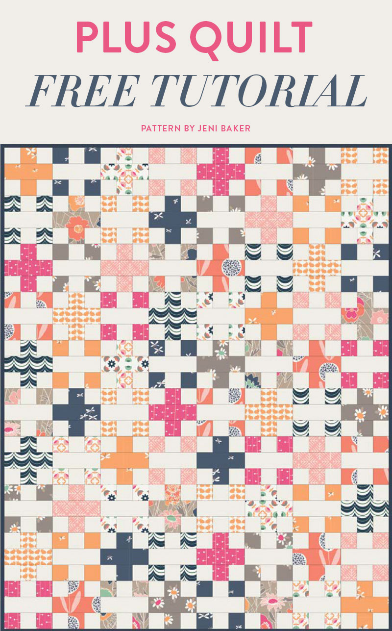 Plus-Quilt-free-tutorial