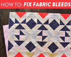 How to Fix Fabric Bleeds