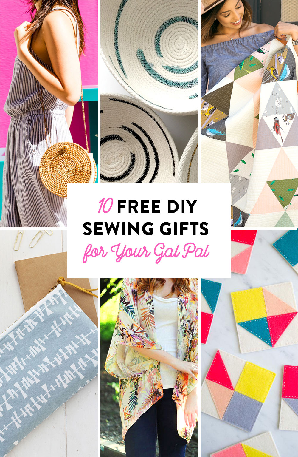 10 Free DIY Sewing Gifts for our Gal Pal | Suzy Quilts https://suzyquilts.com/free-diy-sewing-gifts-for-your-best-gal-pal