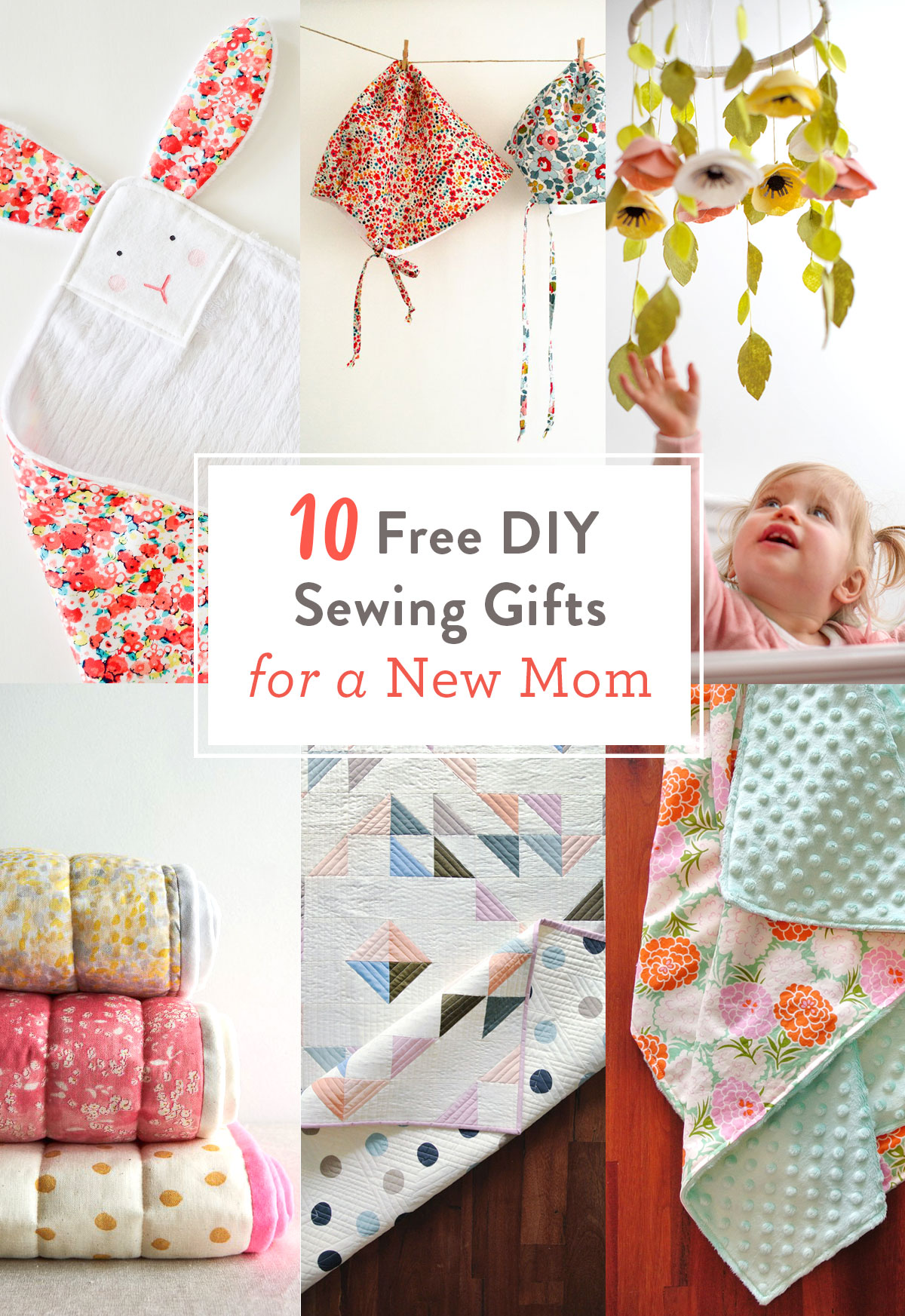 10 Free DIY Sewing Gifts for a New Mom | Suzy Quilts https://suzyquilts.com/free-diy-sewing-gifts-new-mom