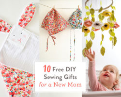 FREE DIY Sewing Gifts for a New Mom