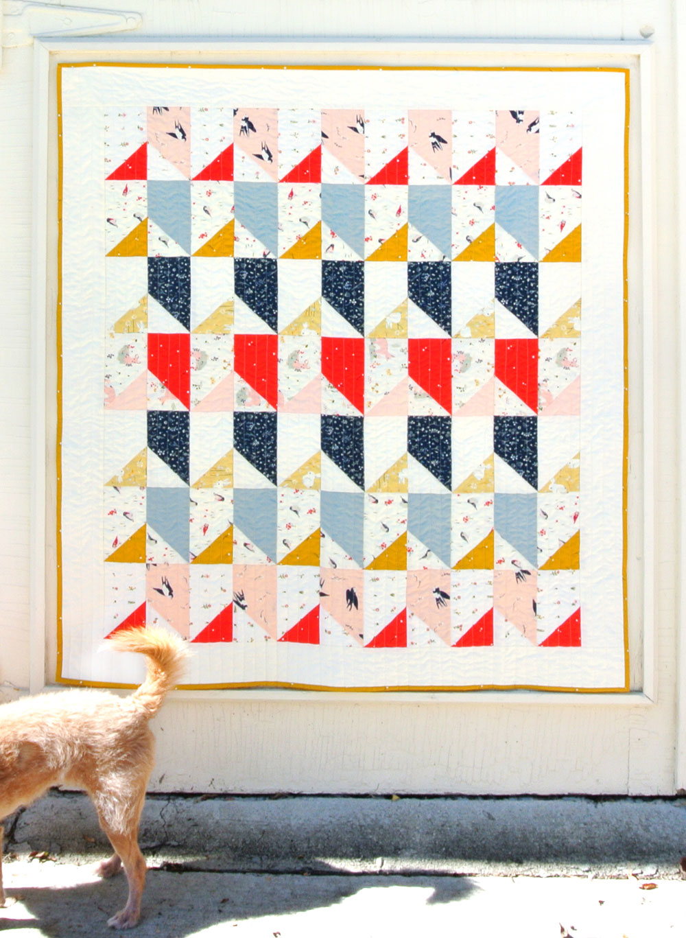 Free Little Houses Baby Quilt Pattern | Suzy Quilts https://suzyquilts.com/free-little-houses-baby-quilt-pattern