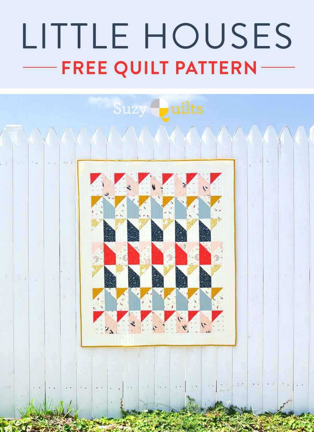 A free quilt pattern! Fat quarter friendly and perfect for beginner sewers. suzyquilts.com