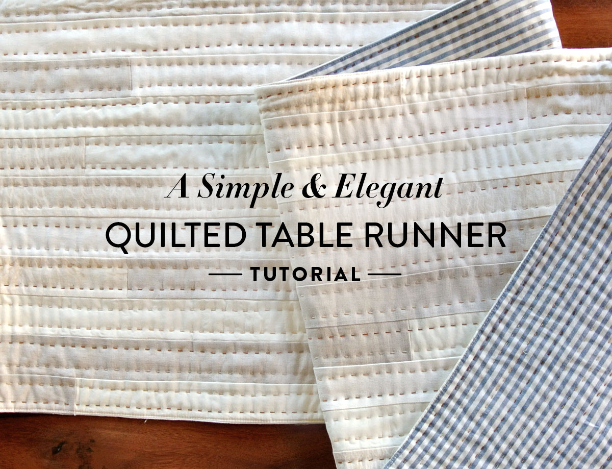 A Simple And Elegant Quilted Table Runner Tutorial Suzy Quilts