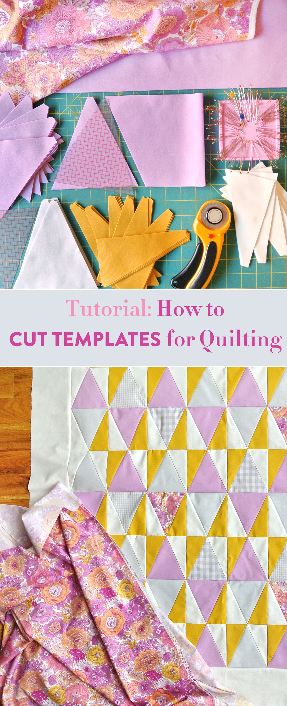 How to Cut Templates for Quilting: The Perfect Guide for Beginner Sewers | Suzy Quilts https://suzyquilts.com/how-to-cut-templates