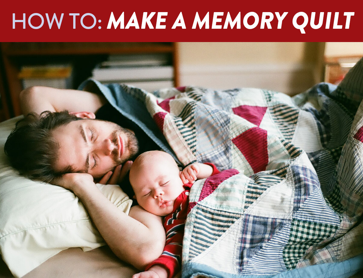 3 Easy Steps to Make a Memory Quilt - Suzy Quilts