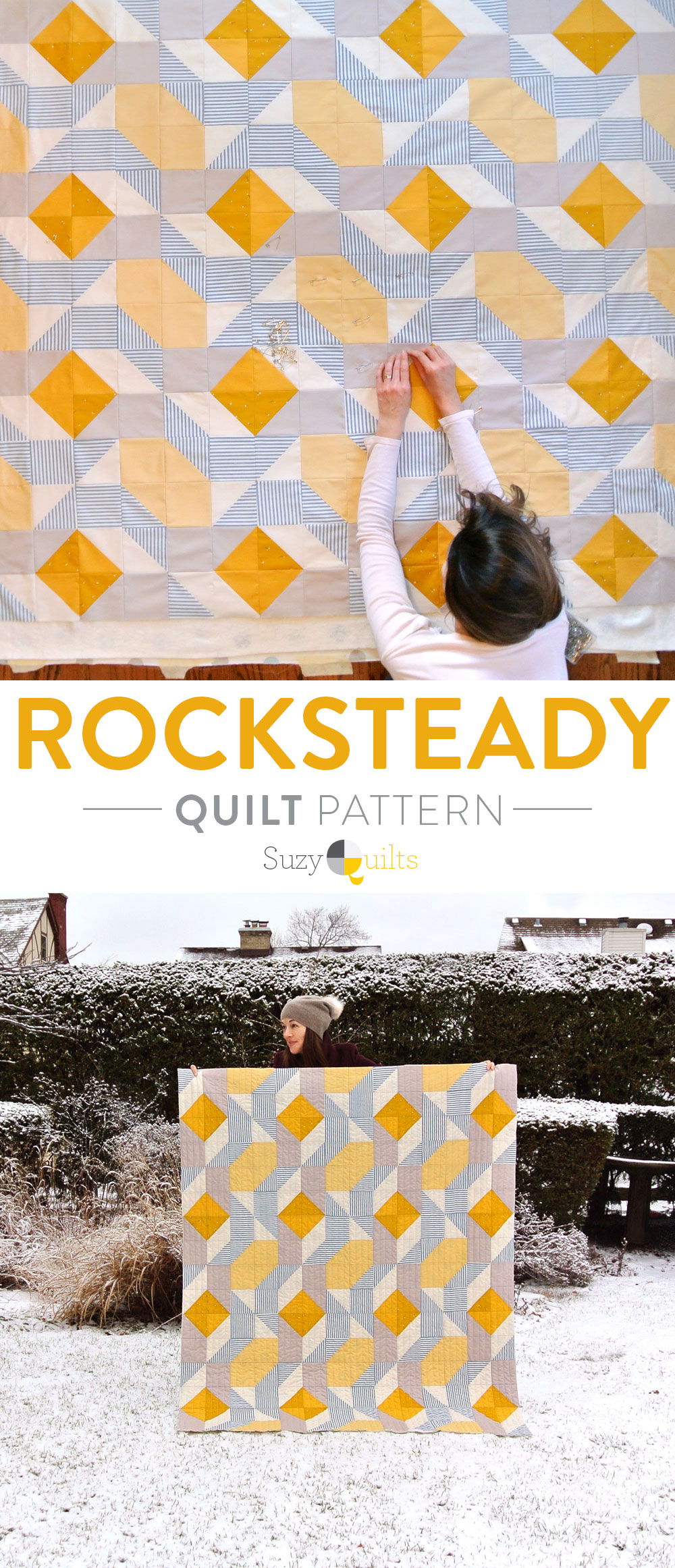 A list of the best beginner-friendly quilt patterns for new quilters. suzyquits.com #quiltpattern
