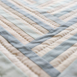 Blue Baby Strip Quilt for sale
