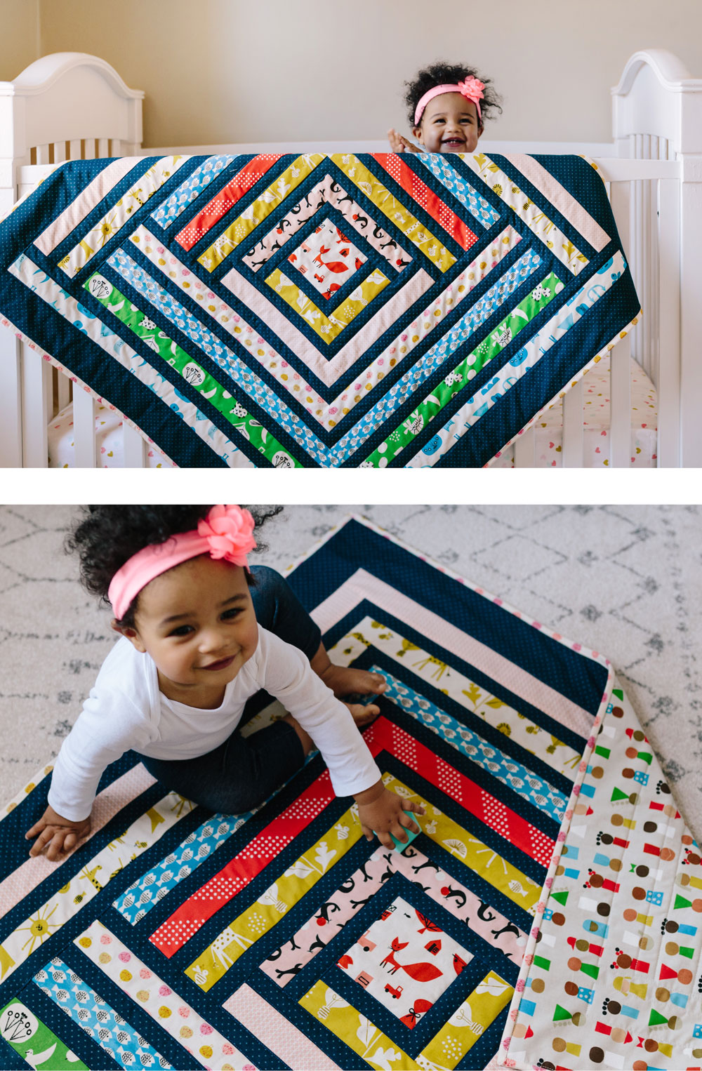 Cotton and Steel campfire quilt