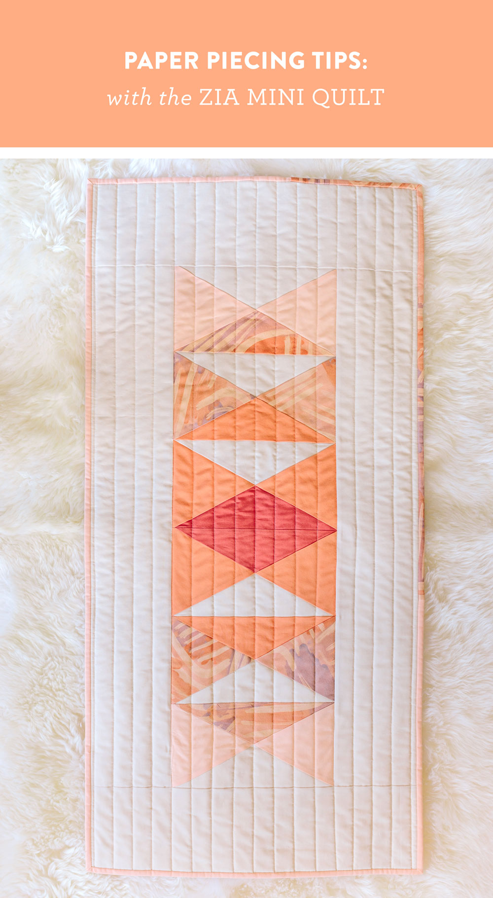 Paper Piecing Tips With The Zia Mini Quilt Suzy Quilts