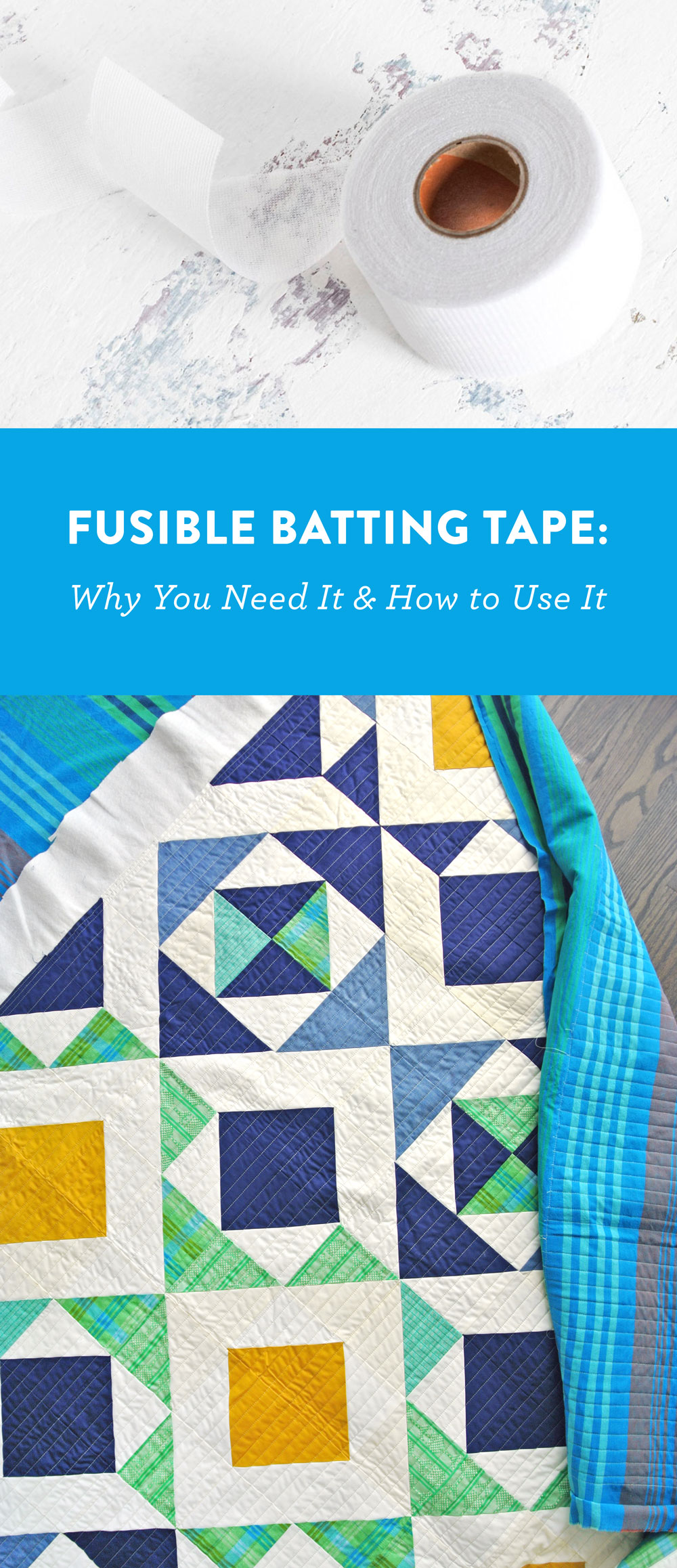 Fusible batting tape! Why you need it and how to use it! | Suzy Quilts https://suzyquilts.com/fusible-batting-tape-why-you-need-it-and-how-to-use-it