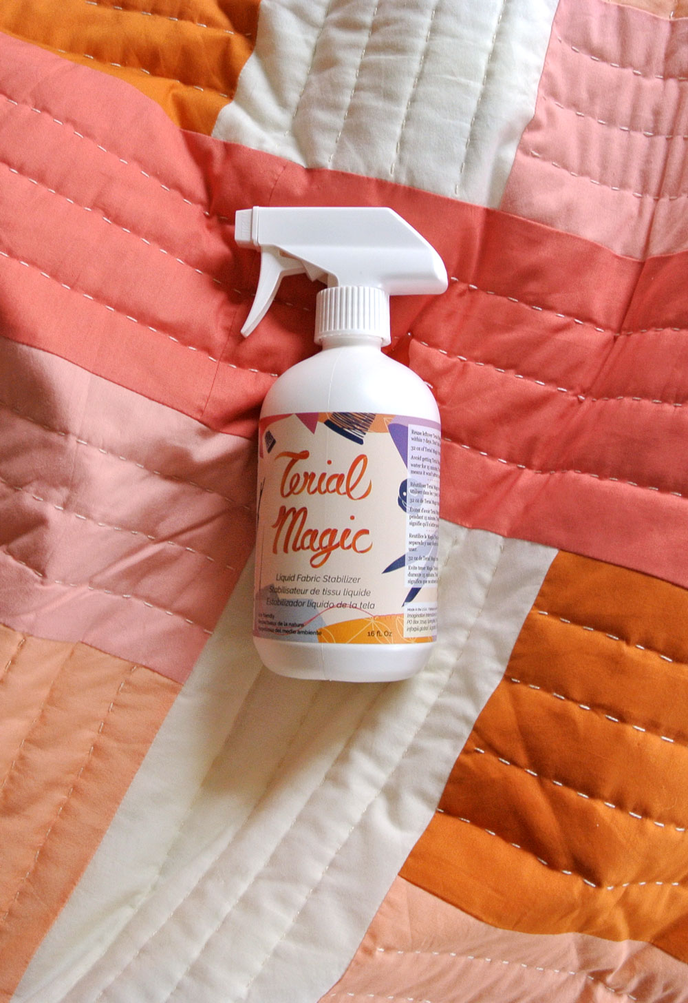 Terial Magic Stabilizing Spray and free downloadable sewing labels. | Suzy Quilts https://suzyquilts.com/terial-magic-your-new-favorite-fabric-stabilizer